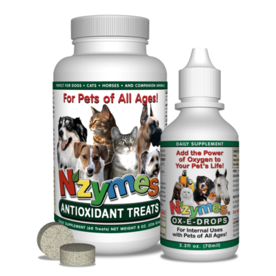 NZYMES Antioxidant Treats & Ox-E-Drops Bundle
