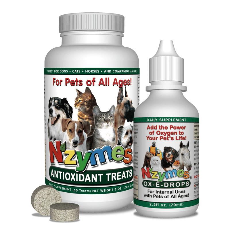 NZYMES Antioxidant Treats & Ox-E-Drops Bundle